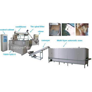 Produção e equipamento de proteína vegetal filamentosa
