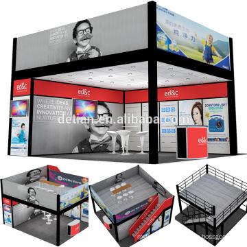 Detian Display benutzerdefinierte zwei Etagen Messestand zwei Ebenen stehen für Messe aus Shanghai