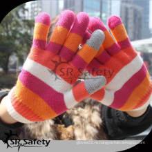 SRSAFETY Модная волшебная трикотажная перчатка для смартфонов / сенсорных магических перчаток