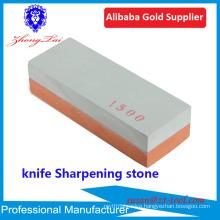 factory sell whetstone knife sharpeners with bamboo base anti-slip holder