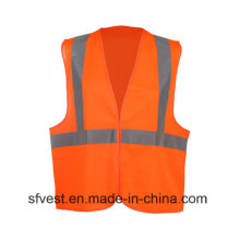 100% Polyester High Visibility Refelctive Warning Safety Vest with En ISO