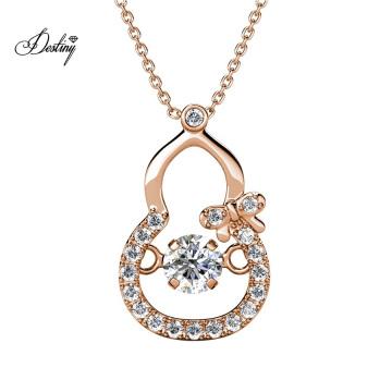 Hypoallergenic Dancing Crystal Calabash Kids Pendant Necklace Jewelry Best Gift for Women Girlfriend