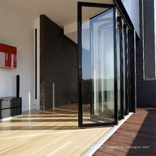 Cheap Price Outdoor Waterproof Aluminium Foldable Sliding Folding Doors Bifold Tempered Glass Door