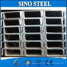 Profilé en U en acier structurel laminé à chaud standard JIS
