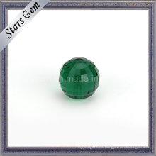 Square Checker Cut Cuentas de vidrio color esmeralda con agujero