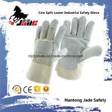 Grey Industrial Safety Cowhide Split Leather Hand Work Glove