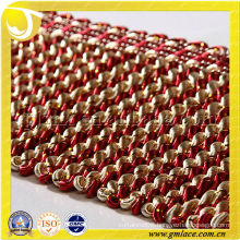 11CM Golden Silk Fried Dough Twist Fringe Curtain Accessory Trims And Braiding Material