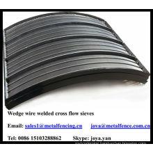 Mineral processing wedge wire welded cross flow sieves
