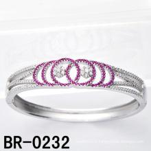 Bracelets CZ colorés en argent Sterling Silver (BR-0232)