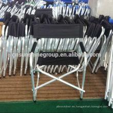 Silla que acampa plegable asiento con apoyabrazos