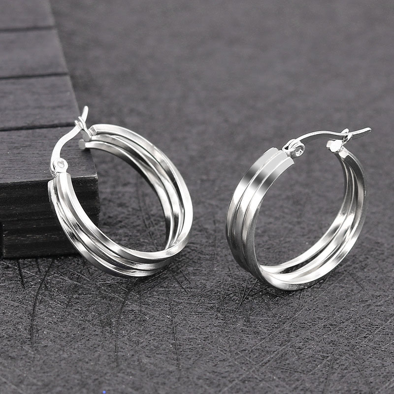 Stainless Steel Gold Hoop Earrings