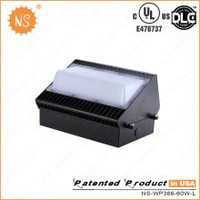 UL Dlc 60W Wall Pack Iluminação LED ao ar livre