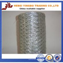 Grillage hexagonal enduit par PVC de fil de poulet de 1/4