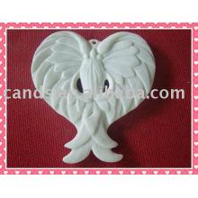 Decoración elegante de la artesanía de cerámica de la pared del ángel