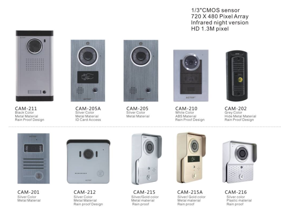 wire video door phone outdoor cameras