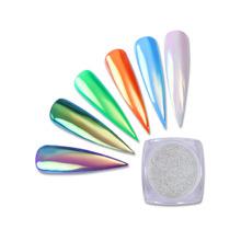 Venda quente Aurora Pigmento Sereia Efeito Neon Pó Prego