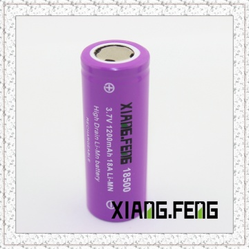 3.7V 18500 1200mAh 18A Batterie au lithium rechargeable Imr 3.7V Batterie rechargeable