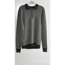 100% lana jersey de manga larga hombre suéter