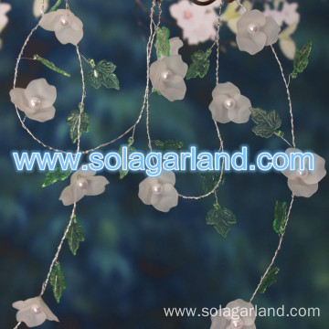 Acrylic Flower Beaded Garland Rope Tree Branches