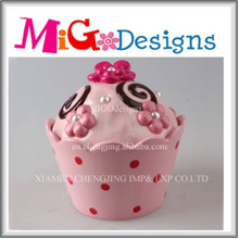 Fashion Pink Decorative Hand-Painted Ceramic Jar for Gift