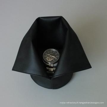 petite vitrine de sac cadeau de bijoux en cuir