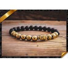 Fashion Handmade Gold Alloy Beads Macrame Bracelets Jewelry (CB043)