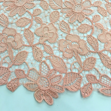 Cord Chemical Lace Blumenstickerei Stoff