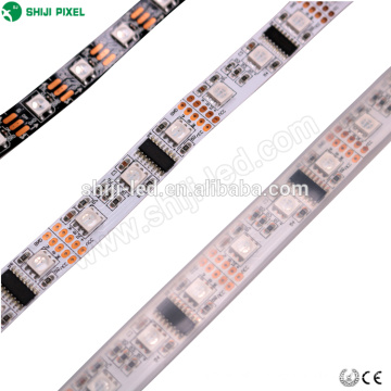 5m rolo 12 v & 24 v 60 leds / m dmx levou luz de tira rgb flexível 5050