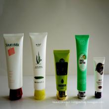 Transparent Cosmetic Plastic Tube, Plastic PE Cosmetic Tube, Round Cosmetic Tube Packaging with Flip Top Cap
