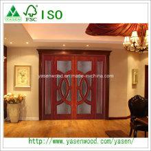 Fancy Polished Solid Wood Door Interior Solid Door