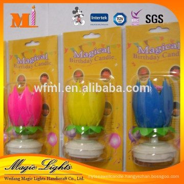 Fashionable&beautiful design unscented rotating musical birthday candles
