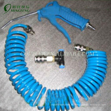 Синий ПУ катушки шланг латунь пневматическое оружие с шлангом