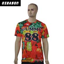 Custom Various Styles Kids Polyester Colorful Printed Cartoon T-Shirt
