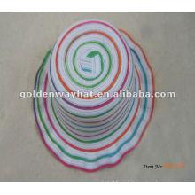 Sombrero de copa de paja bebé arco iris