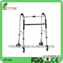 hot sale aluminum walker with wheels