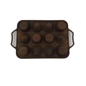 Molde do bolo do silicone de 12 cavidades