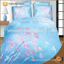 2016 new design bedding set,flower printed ,100% polyester bed sheet