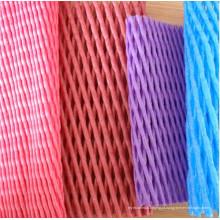 Rede tubular da espuma plástica colorida da embalagem do fruto para a proteção de Apple