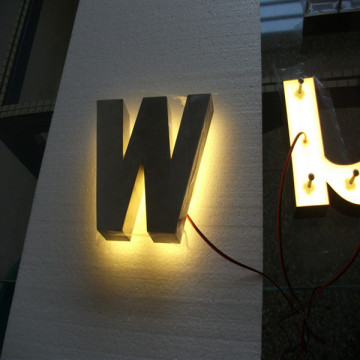 DIY LED retroiluminada Signbox letra números