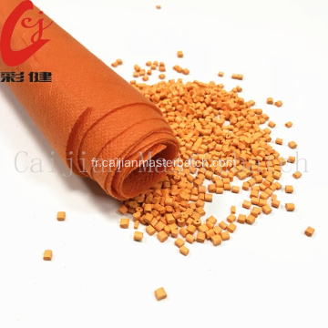 Granule de mélange de couleur orange en nylon