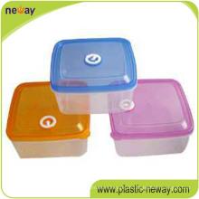 Billiger kundenspezifischer Plastikknusper-frischer runder Nahrungsmittelbehälter