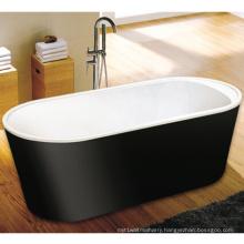 CE, Cupc Black Skirt Freestanding Toe-Tap Drain Bath