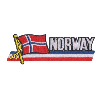 Norway Flag Iron On Embroidery Patches