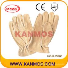 Желтая свинья Драйвер-кожевенная промышленность Промышленные перчатки безопасности (22202)