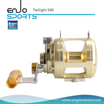 Angler Select Twilight Sea Fishing Aluminium 8 + 1 Lager Sound Alarm Trolling Reel Angelgerät (Twilight 500)