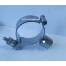 Stainless Steel Screw End Round Pipe Holder with Handle