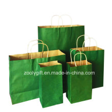Wholesale Cheap Recycle Kraft Gift Carrier Paper Bags with Twisted Handle