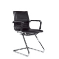 Hotel Leather Office Metal Arm Visitor Chair (E13)