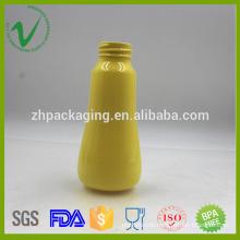 PET empty round transparent shampoo plastic bottle 200ml