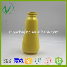 PET vazio redondo transparente shampoo garrafa de plástico 200ml